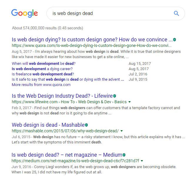 مرگ طراحی وب