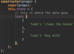 React Data state Object